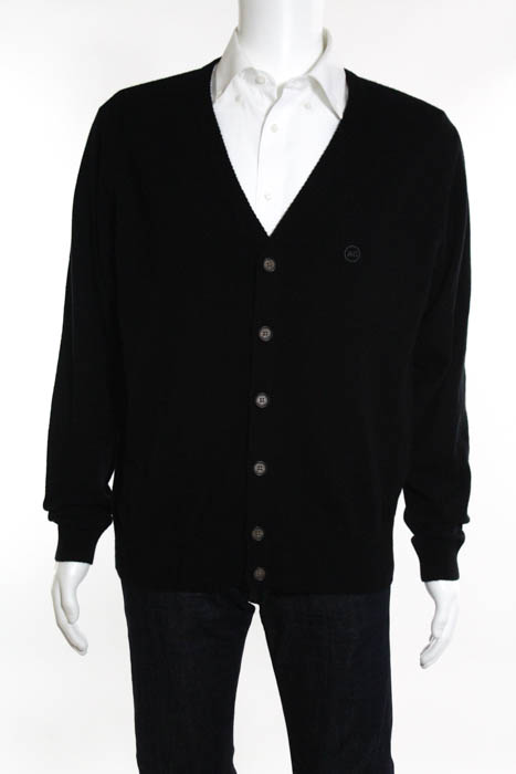 AG Green Label Black Button Down Cardigan Sweater Size Large NEW ...
