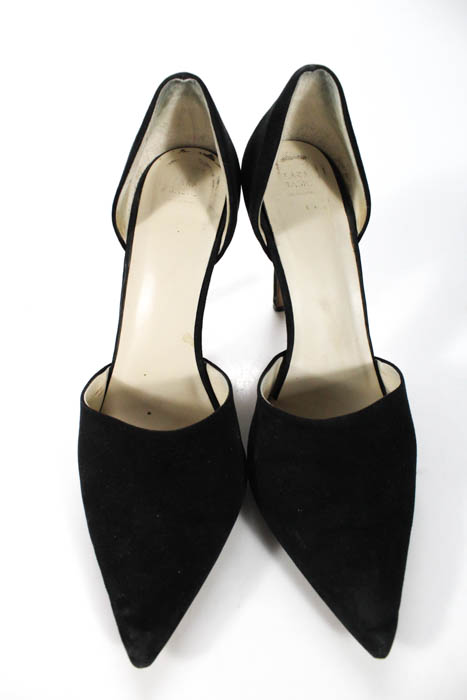 eb6b19a0a92 Zara Basic Collection Black Suede Pointed Toe D Orsay Pumps Size 38 ...