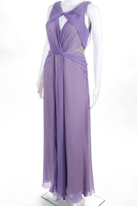 Badgley Mischka Purple Pastel Petunia Gown $795 Size 4 10178240 | eBay