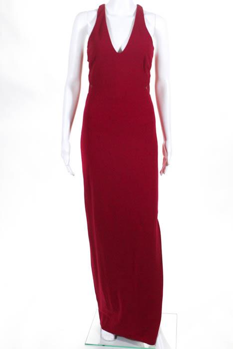 Nicole Miller Red Deep Love Gown $420 Size 4 10321172 | eBay