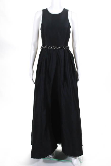 ML Monique Lhuillier Black Beaded Cutout Jadore Gown Size 8 $598 ...