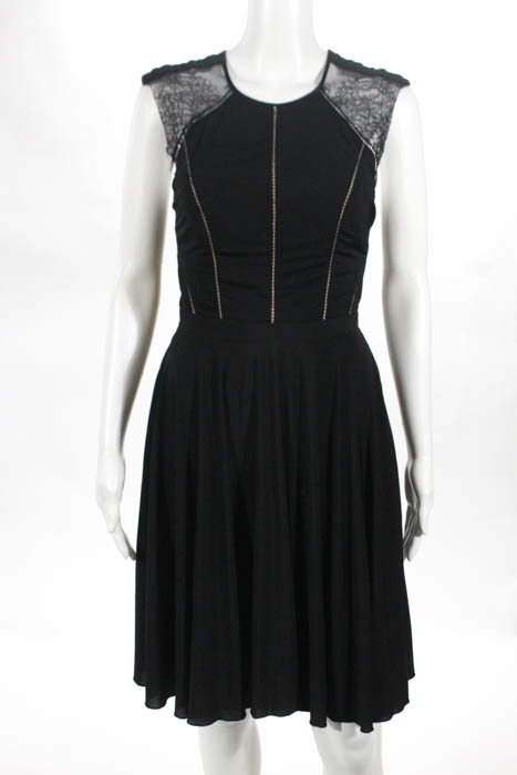 Catherine Deane Black Lace Trim Sleeveless Simone Gown Size 4 $1350 ...