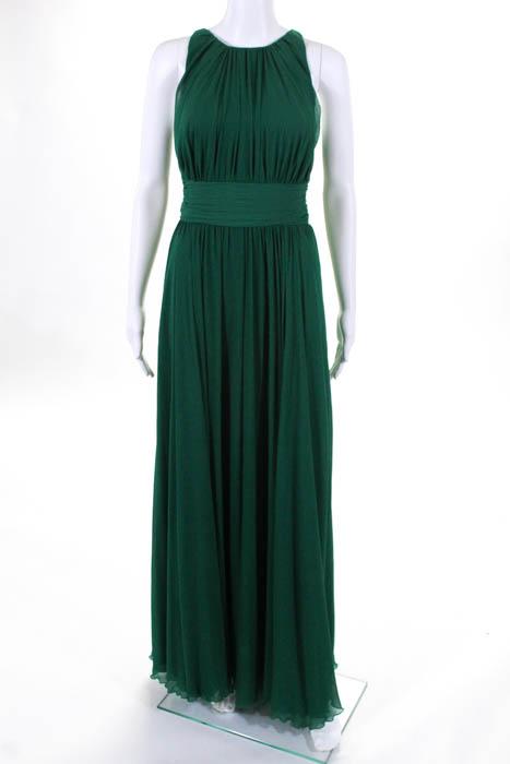 Badgley Mischka Green Fluorite Emerald Gala Gown $740 Size 6 ...