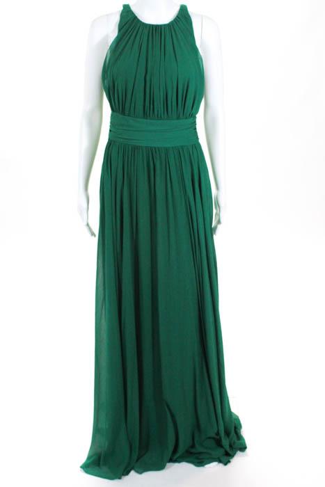 Badgley Mischka Green Fluorite Emerald Gala Gown Size 8 $740 ...