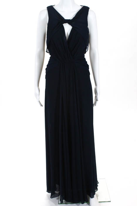 Details about Badgley Mischka Blue Navy Petunia Gown Size 8 $795 10320843