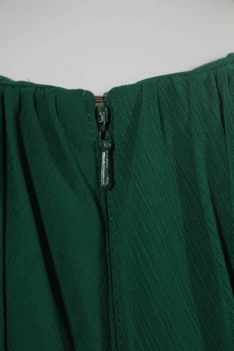 Badgley Mischka Fluorite Emerald Green Gala Gown Size 8 $740 ...