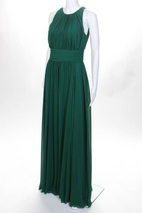 Badgley Mischka Green Fluorite Emerald Gala Gown Size 4 $740 ...