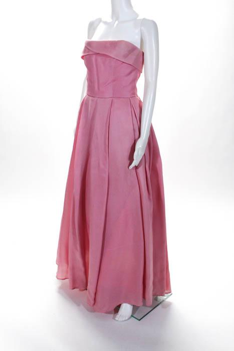 Reem Acra Pink Cherry Blossom Gown Size 10 Regular $4995 10184284 | eBay