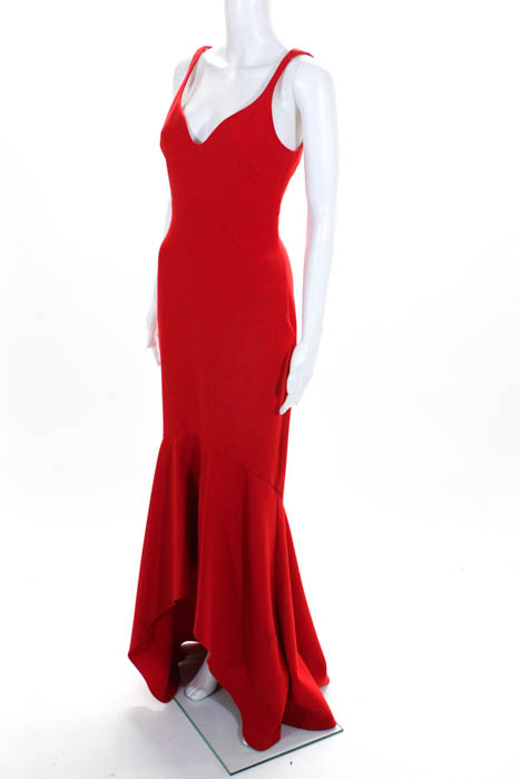 Cinq A Sept Red Sade Gown Msrp 695 Size 4 10330741 Ebay