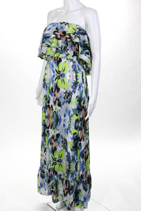 T bags maxi dress multi colored