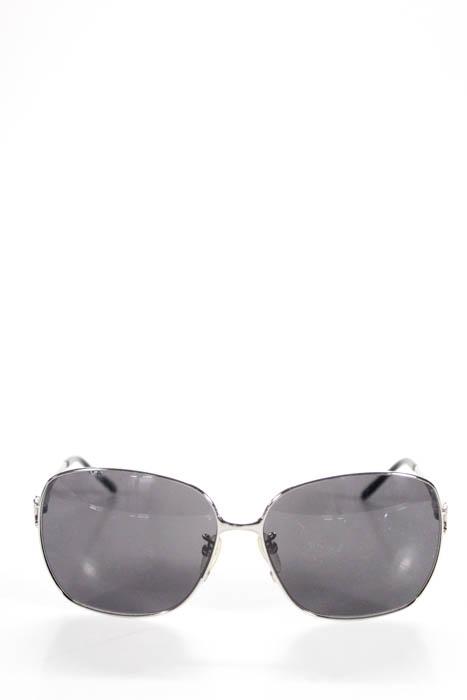 496a0ccc78fa Celine серебристые металлический каркас серый линзы квадратные стильные  солнцезащитные очки в футляре
