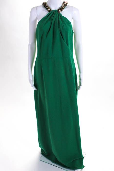 RAOUL Green Sleeveless Georgina Gown Size 12 $970 10114251 | eBay
