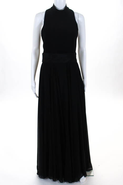 dfc067ca21b Theia Black Cover of Darkness Evening Gown  795 Size 8 10458491