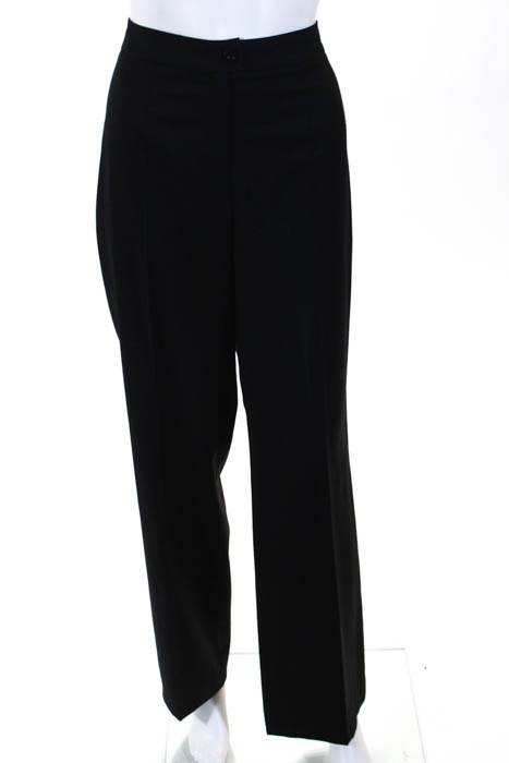 3f66293ca16f Escada Black Wool Button Mid Rise Wide Leg Dress Pants Trousers Size German  42
