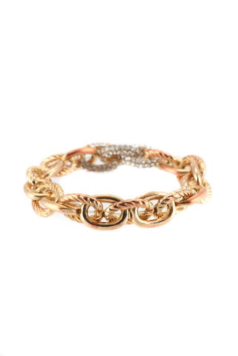 3377d6f6285b11 Slate   Willow Gold Tone Pave Link Bracelet  32 90096227