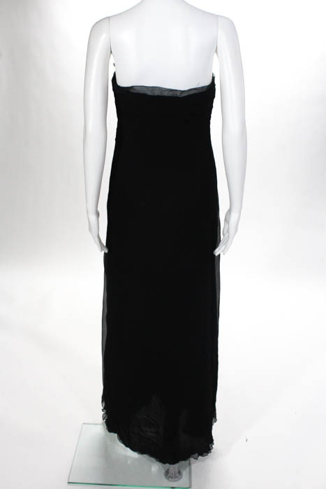 27fa2e2c2c1 Carolina Herrera Black Silk Strapless Formal Dress Size 4