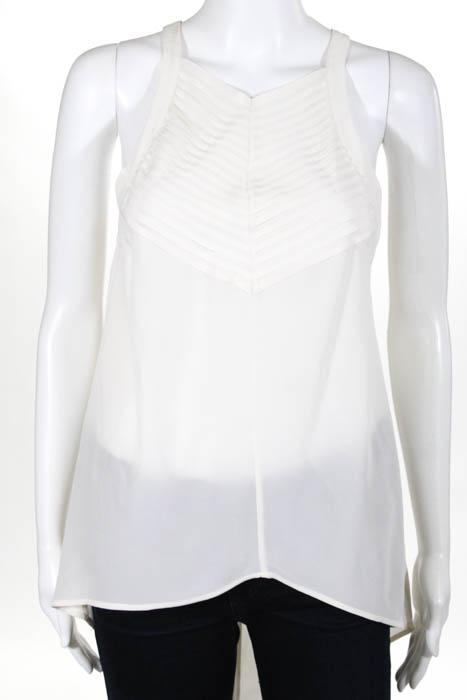 612b16f38f Details about Sass & Bide Off White Silk Sleeveless V Neck Tank Top Size 36