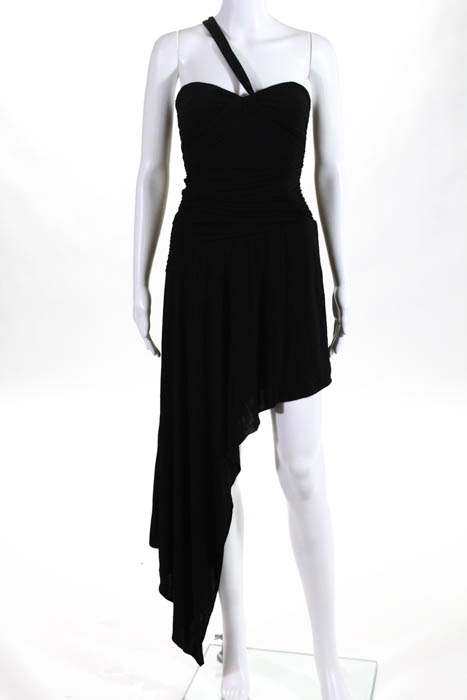 f4e07c65fe5 Details about BCBG Max Azria Scrunched One Shoulder Asymmetrical Hem Dress  Size Extra Small