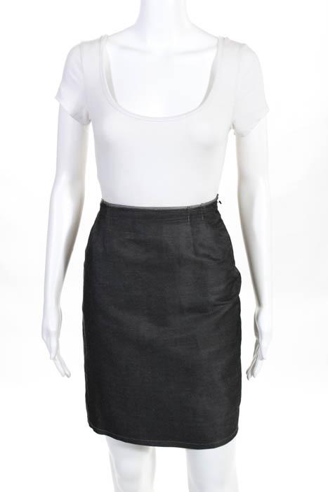 Philosophy di Alberta Ferretti Gray Flat Front Above Knee Mini Skirt Size 4