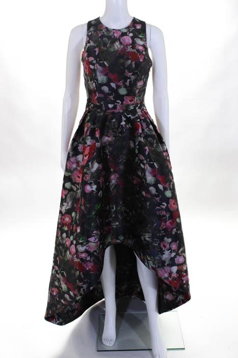 ML MONIQUE LHUILLIER Multi Color Sleeveless Floral Jadore Gown $550 ...