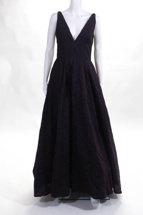 ML Monique Lhuillier Burgundy Center Stage Gown Size 4 $880 10412217 ...