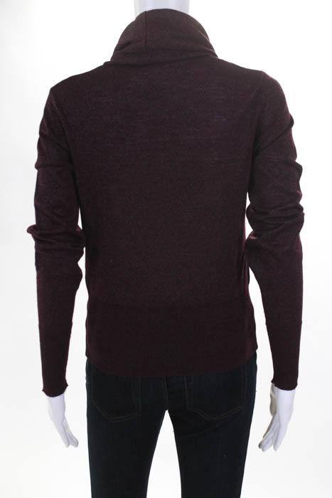 1b98347a704 Chloe Burgundy Red Merino Wool Cowl Neck Butterfly Sweater Size ...