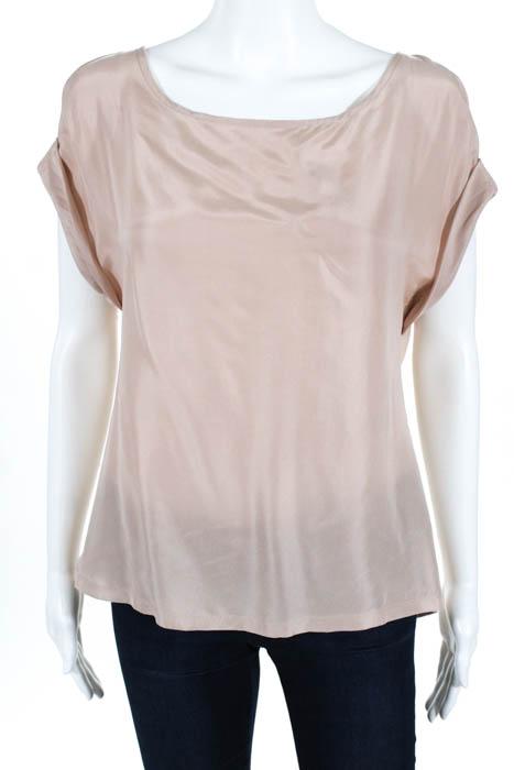 cb96a2f321997 Soft Joie Pink Silk Blend Boat Neck Short Sleeve Tunic Blouse Size ...