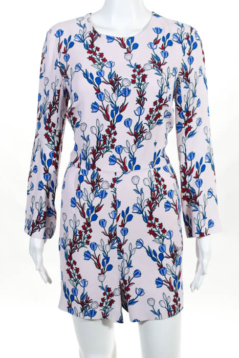 Draper James Womens Floral Dunaway Vines Beverly Romper Size 10  225 10547874