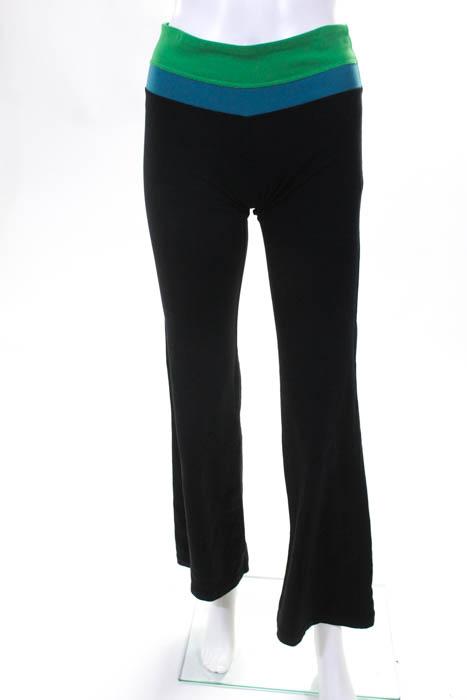 14b30051d0 Lululemon Womens Athletic Pants Leggings Size 4 Black Green Blue ...
