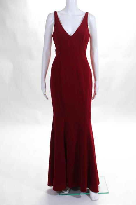 Jay Godfrey damen Dress Größe 4 rot Rockefeller Gown  10602727