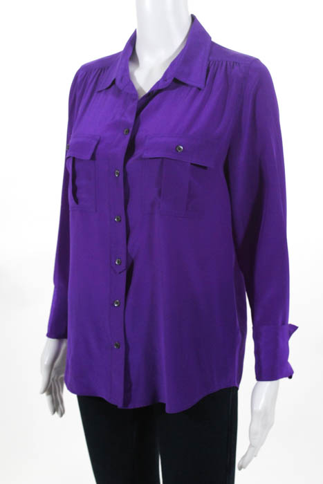 bbc32d92 ... Sleeve Length: long sleeve; 100% Silk. Condition: Pre-Owned; light wear