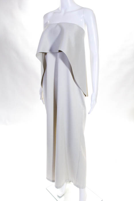 205885c2a8b Solace London Womens Jumpsuit Size 4 White Cadenza Jumpsuit  535 ...