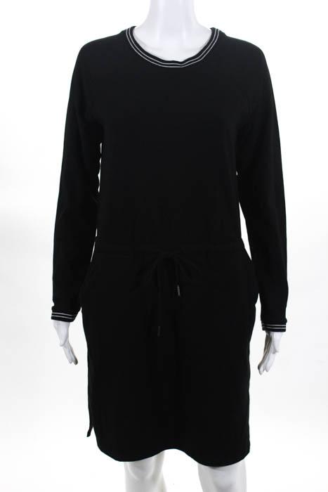 Cable Gauge Womens Shift Dress Size Small Black Cotton Long