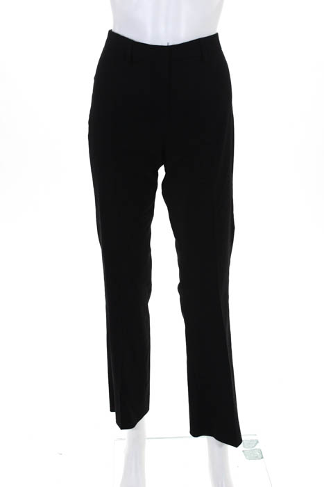 353c175bf0 Gunex Womens Black Wool Flat Front High Rise Straight Leg Dress Pants Size 4