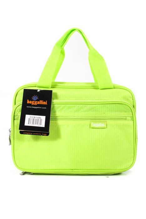 Baggallini Women S Cosmetic Bag Neon Green Zip Up