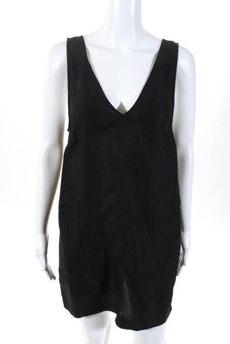 96e64f7461 Wilfred Womens Dress Size Small Black V Neck Sleeveless Linen
