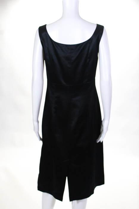 Banana Republic Little Black Dress Size 10 Sleeveless Cotton Silk
