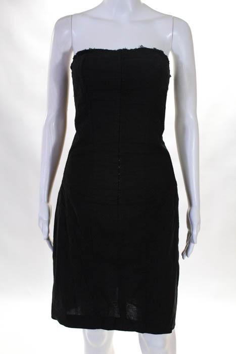 Allsaints Womens Little Black Dress Size 10 Sleeveless Scoop Neck