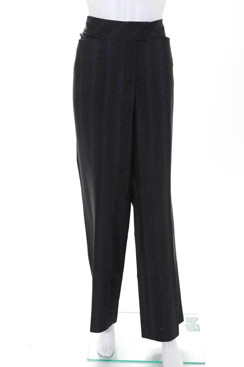 f4d16629279f Escada Womens Gray Purple Silk Blend Striped Wide Leg Dress Pants Size EUR  42