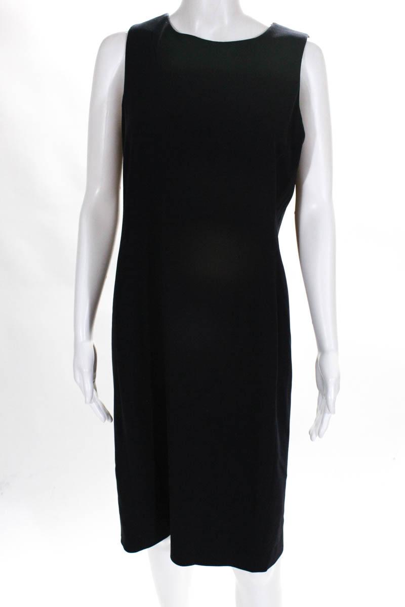 1c02dba8497 Calvin Klein Collection Womens Dress Size 12 Black Wool Sleeveless Pencil