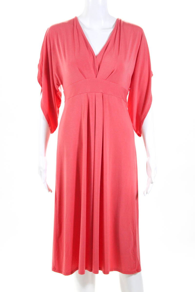 5caf328383371 Ingrid and Isabel Womens Dress Size M Coral Kimono Maternity MSRP $88  11222253