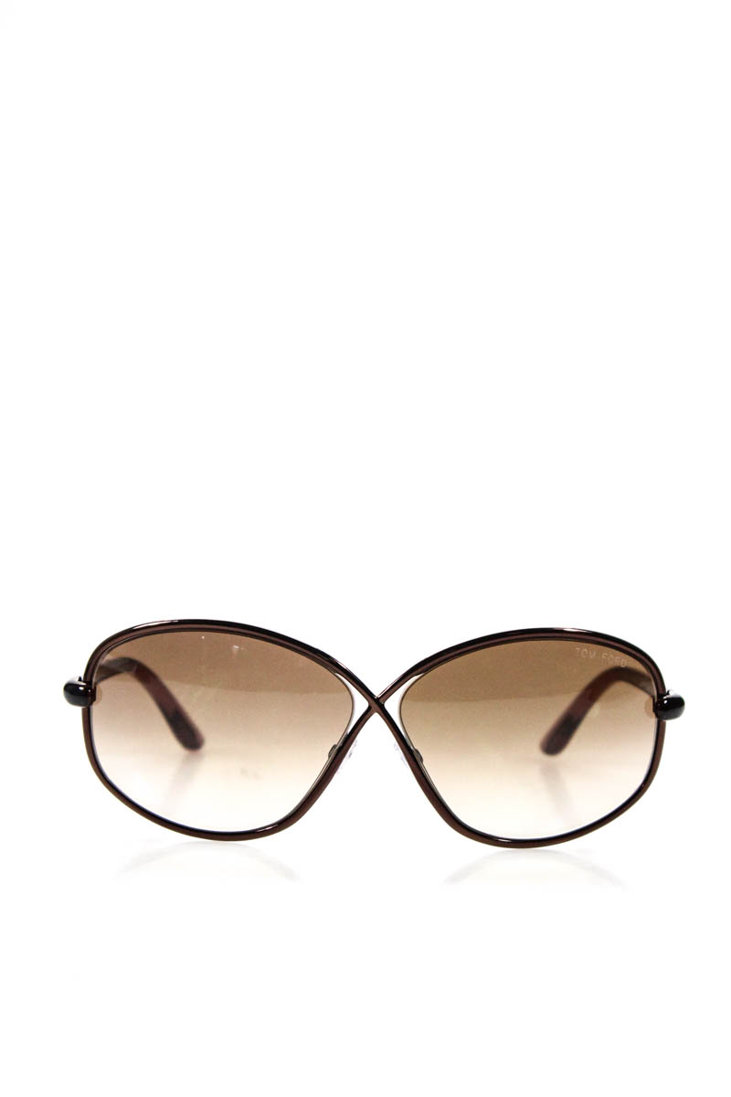 7881cc8cd952 Tom Ford Women Sunglasses Brigitte TF160 48F Purple Brown Butterfly NEW IN  CASE