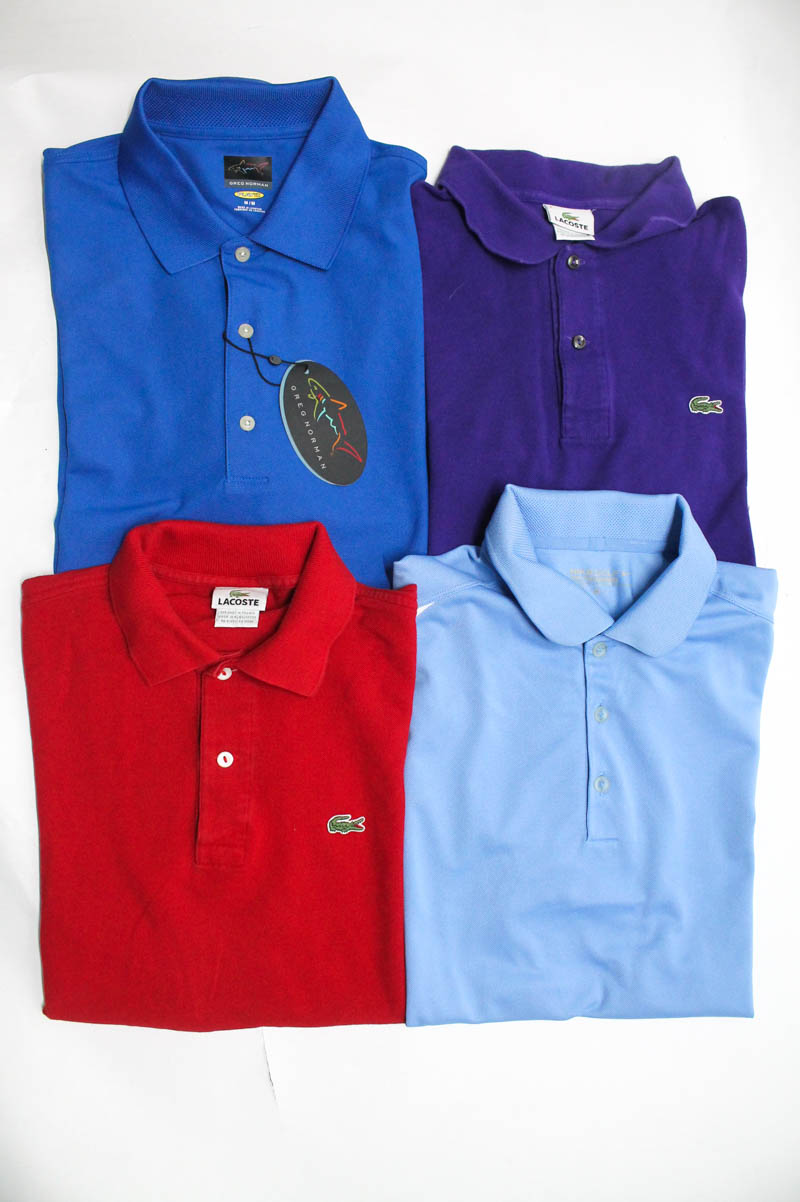 Lacoste Nike Golf Greg Norman Play Camisas Polo para hombre 4 6 Lote ... 191fe5b4482