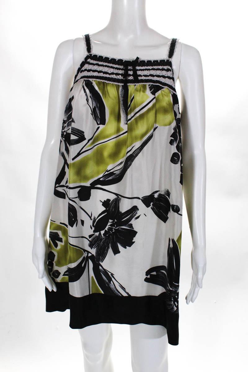 BCBG-Max-Azria-Womens-Dress-Size-Small-Multi-Color-Floral-Silk-Lace