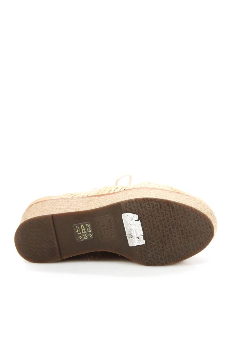 7ca05841037 Schutz Womens Size 5.5 Shoes Espadrilles Tan Brown Lace Up Platform ...
