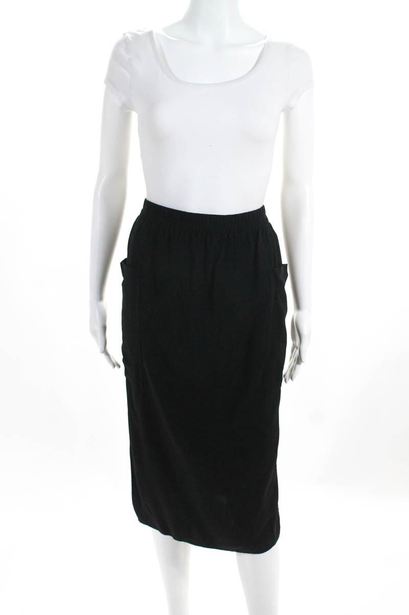 ed901b3569b Cos Womens Skirt Size European 38 Black Pocket Front Side Slits Knee Length