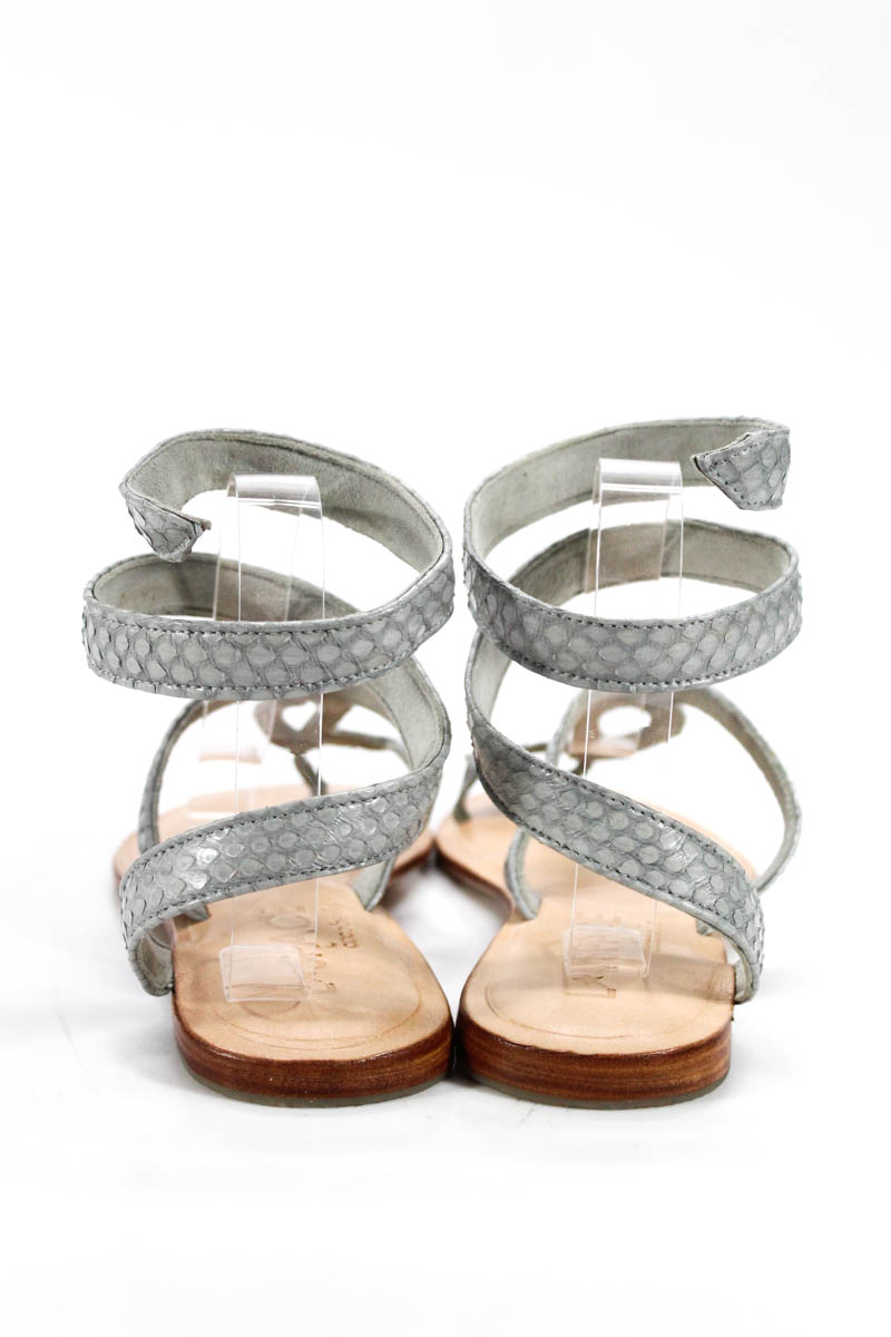a75a6fe36 L Space By Cocobelle Womens Sandals Size 40 10 Gray Snakeskin Wrap ...