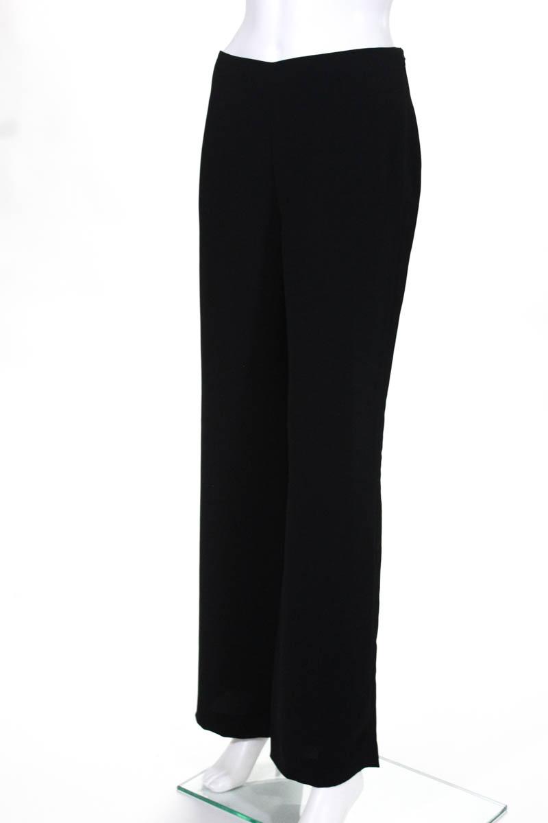 Vince Womens Dress Pants Black Wide Leg High Waist Size 6 Ebay