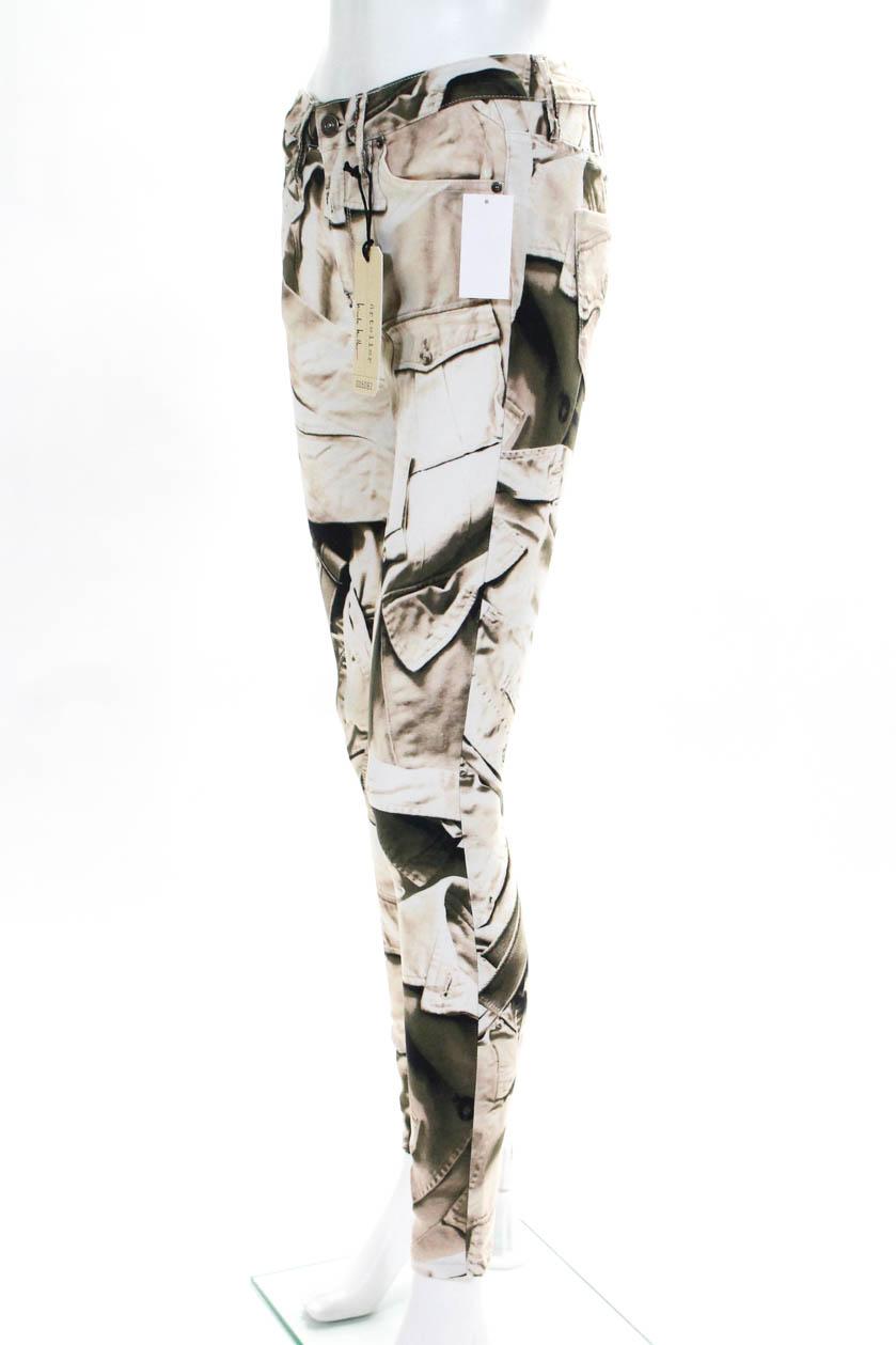 5996b92763063 Artelier Nicole Miller Womens Skinny Slim Cut Jeans Graphic Print ...