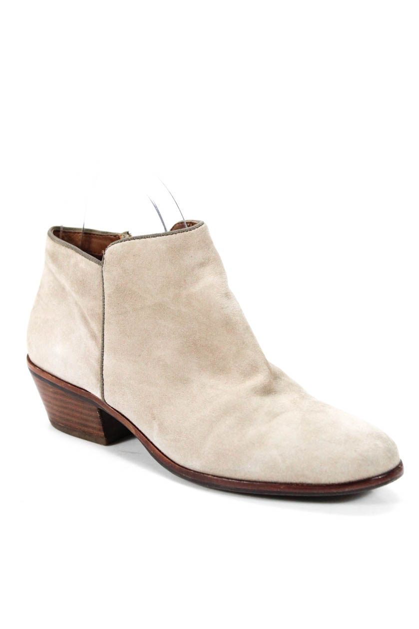 0fcac0fe58afc5 Details about Sam Edelman Womens Ankle Booties Gray Suede Boots Size 5.5